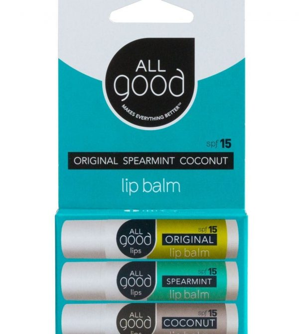 Assorted SPF 15 Lip Balms (3-Pack) – All Good Products