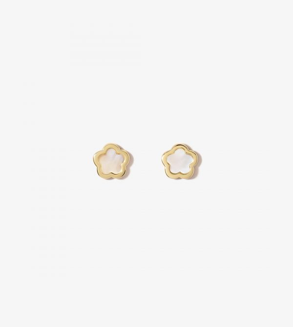 Inlay Flower Studs – Rei Mother of Pearl