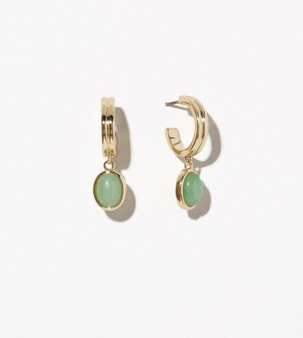 Gemstone Hoop Earrings – Dobby