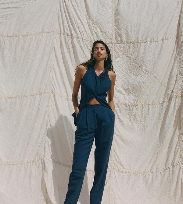 Arlet Trouser Navy · TOVE Studio  · Advanced Contemporary Womenswear Brand