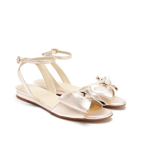 Aubrey Bow Gold Vegan Sandals
