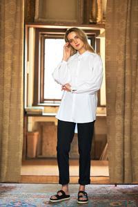 White – Gather Sleeve Shirt