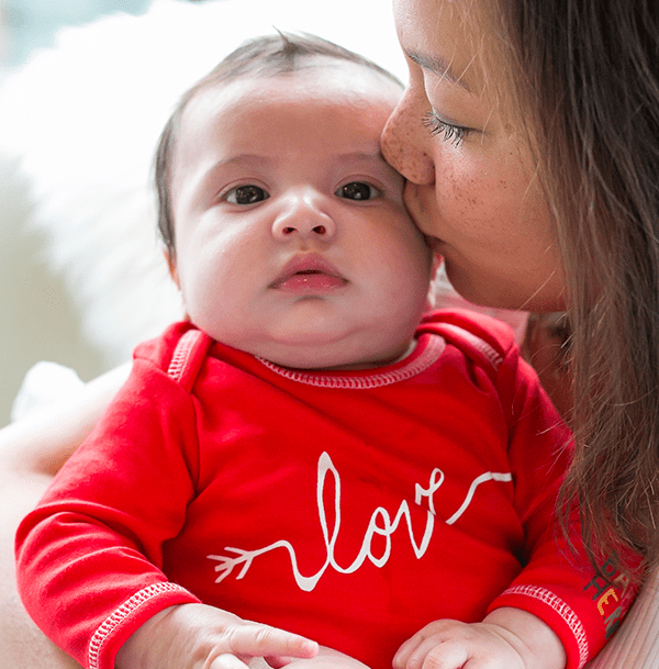 Love Onesie – Red, 100% Organic