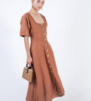 Ludlow Dress in Rust