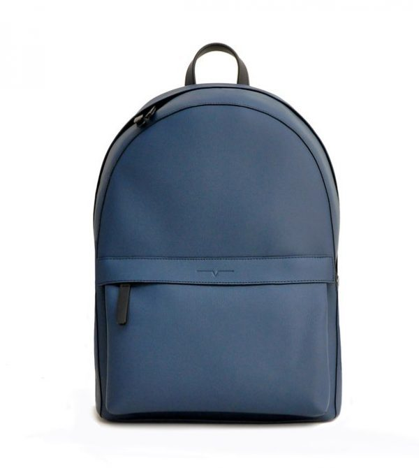 The Backpack – Technik-Leather in Denim and Black