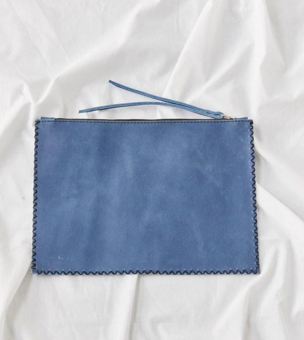 Mara Pouch // Blue Peony