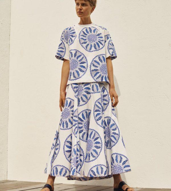 Amelina Skirt Blue Circles