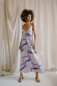 SUMMER PRINT FLOWY MAXI DRESS