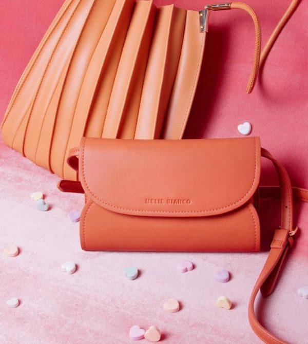 Cleo Peach Small Convertible Belt Bag