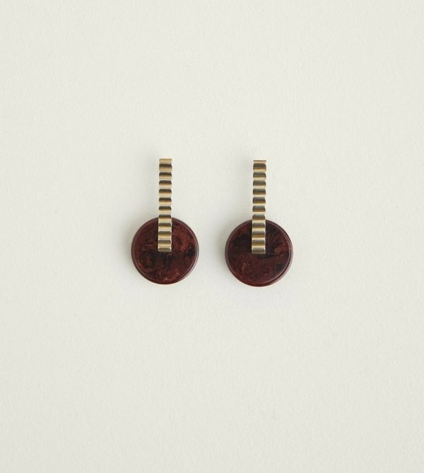 CastleCliff Pendulum Earrings (Oxblood)