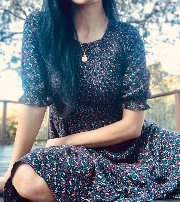 Christy Vintage-Inspired Floral Dress