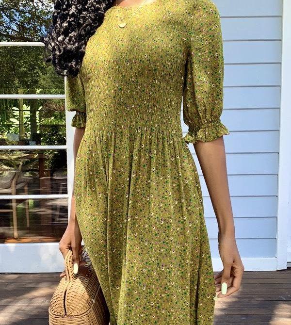 Christy Green Vintage-Inspired Dress