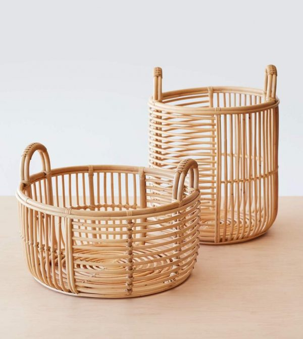 Java Rattan Baskets – Low or Medium – The Citizenry