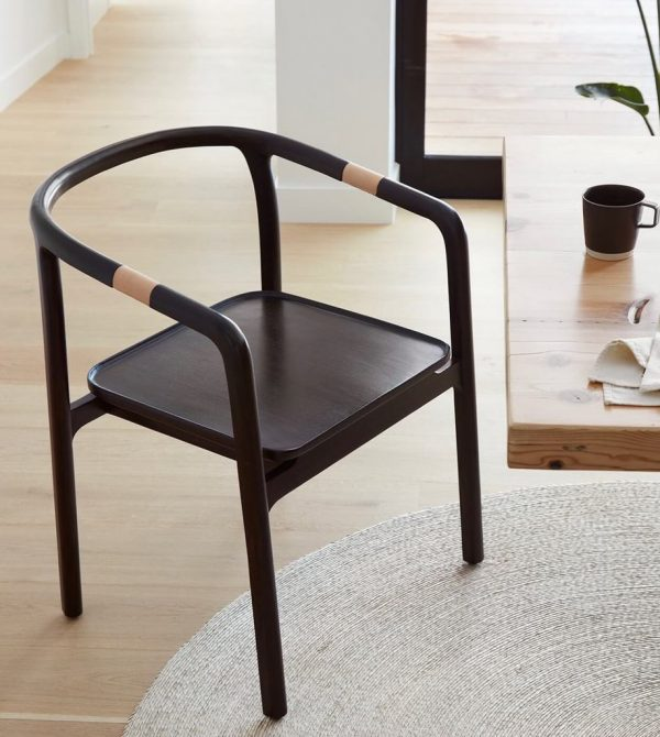 Rosewood Wishbone Chair | Leather Arm Accents – The Citizenry