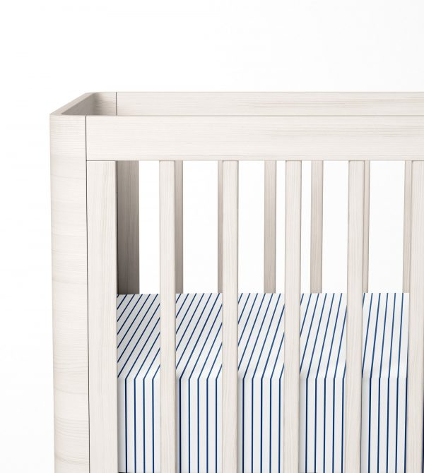 Organic Crib Sheet (Wide Stripe)