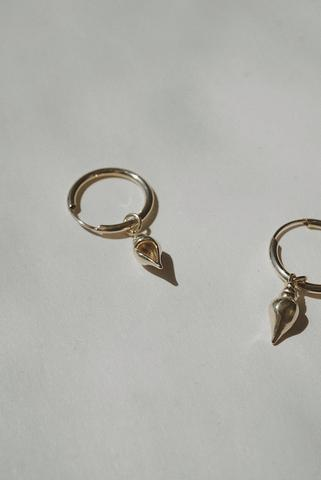 Conch Charm Hoops *made-to-order