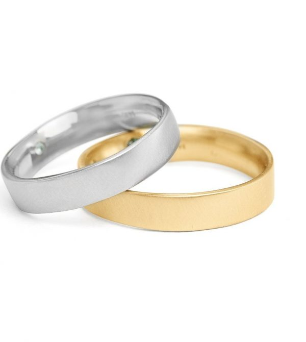 Square Band Yellow Gold