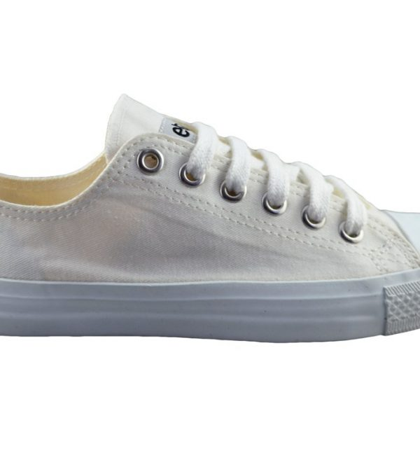 Sneakers Lowcuts All White Organic Fairtrade