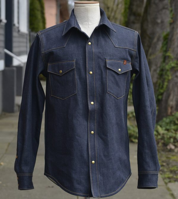 Townes Western Shirt – Indigo Denim V2