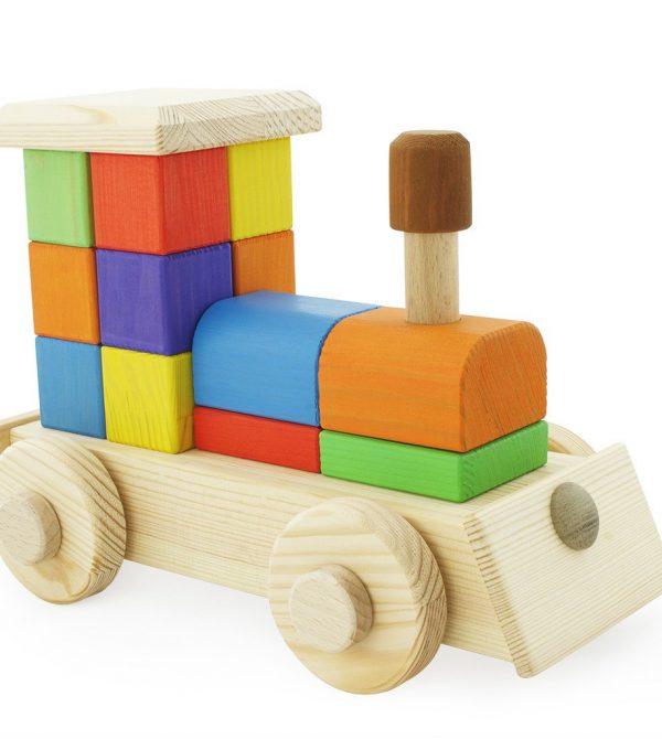 Large Wooden Puzzle Train – Arthur