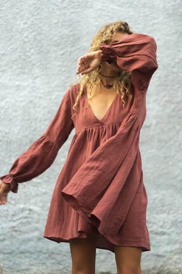 DEZIA MINI DRESS – ROSE