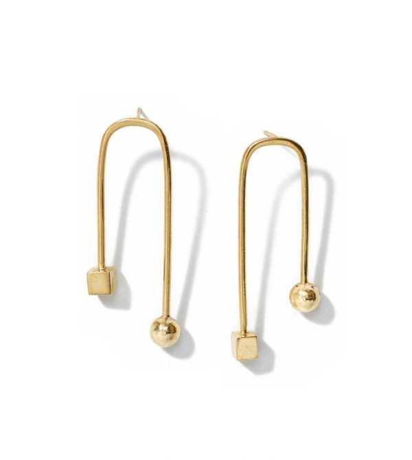 Kamali Dramatic Arc Earrings // Brass