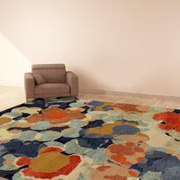 Flower Carpet   54kibo African Design Area Rug