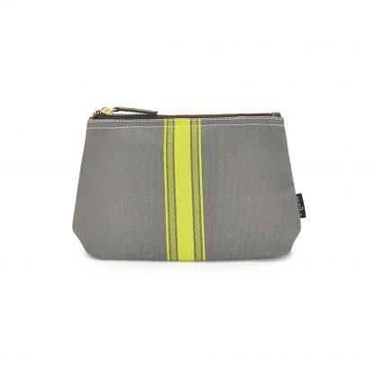 NEW! Travel Pouch - Mod Stripe Lime/ Ash