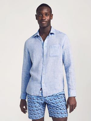 Linen Laguna Shirt – Light Blue Melange