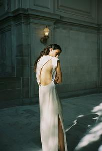 LOCKWOOD SILK CHARMEUSE GOWN | IVORY