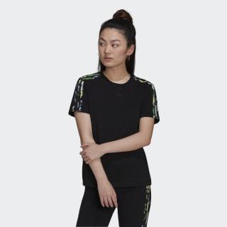 adidas Floral 3-Stripes Tee – Black   adidas US