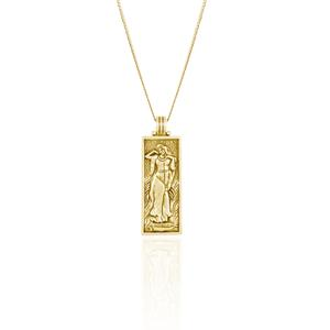 Freyja Goddess of Love Pendant Necklace - Gold