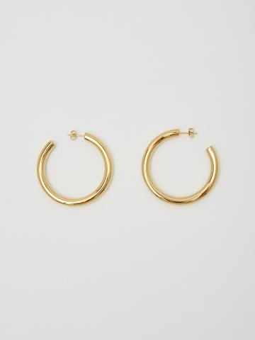 Mini Gold Hollow hoops by Bagatiba
