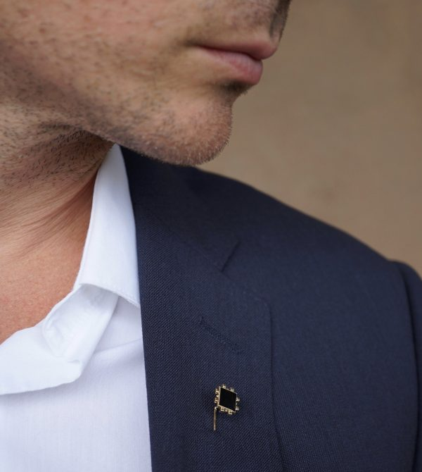 GOLD & ENAMEL LAPEL PIN // BAYOU WITH LOVE X DELL