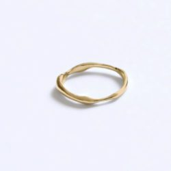 RIPPLE RING | GOLD PLATED | BAR JEWELLERY