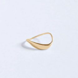 SMALL WAVE RING | GOLD PLATED | BAR JEWELLERY