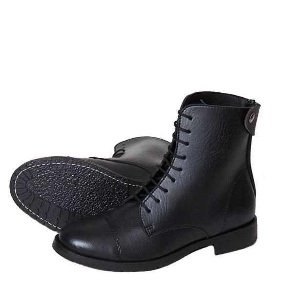 Good Guys Don't Wear Leather Norider Black Boots   Sustainable Footwear