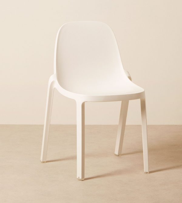 Broom White Side Chair