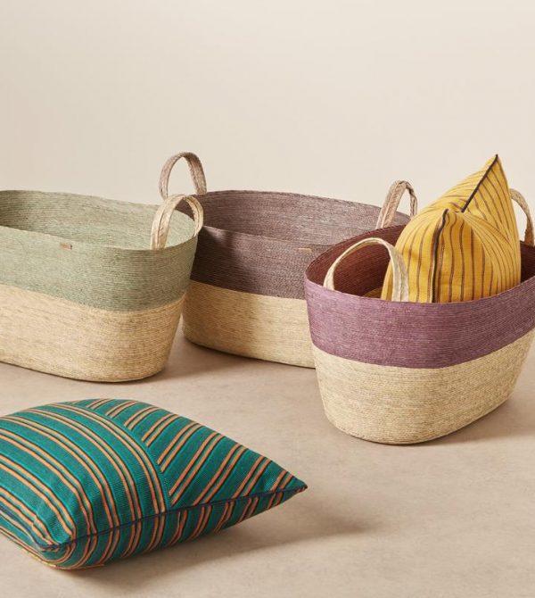 Oval Floor Basket Piedra
