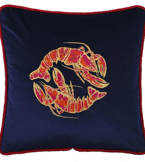 Velvet Lobster Cushion
