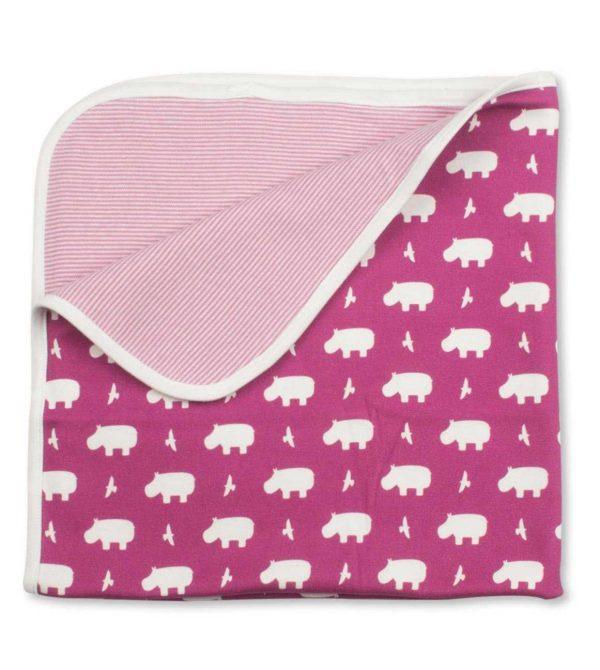 Hippo Blanket (Raspberry)