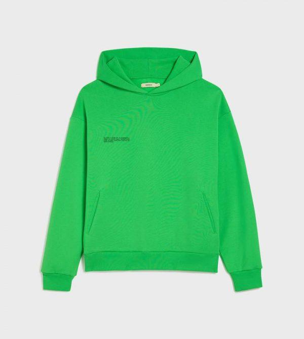 Heavyweight recycled cotton hoodie—jade green