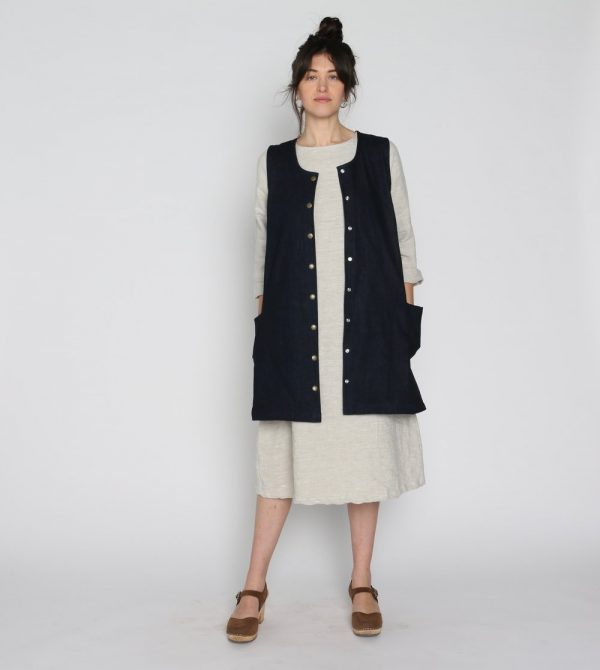 Denim Snap Smock – CONSCIOUS CLOTHING