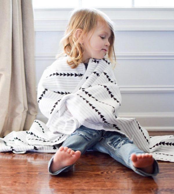 Organic Cotton Muslin Midnight Play Blanket