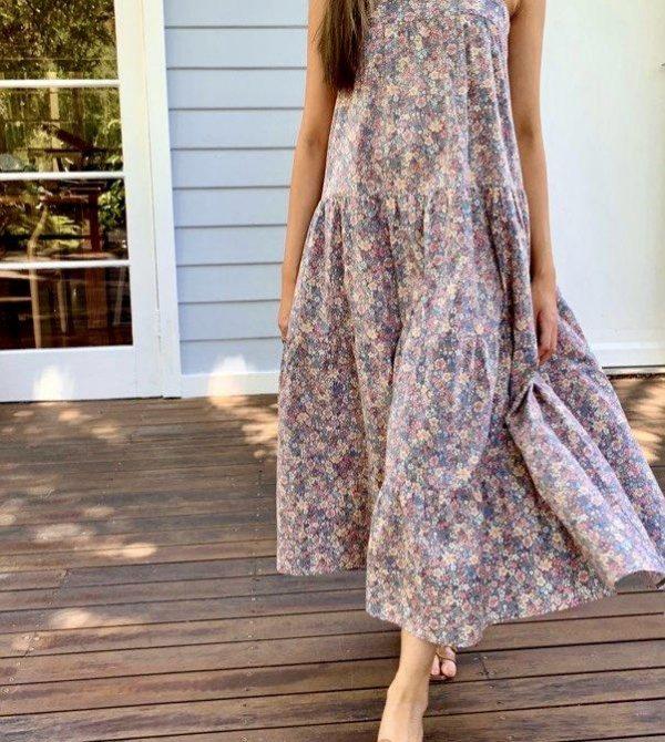 Arabella Vintage Indigo Cotton Dress