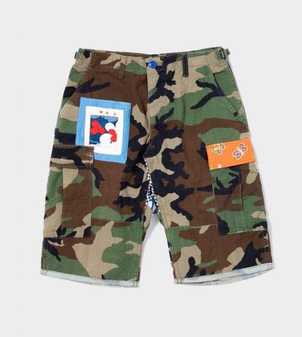 Camo Cargo Shorts on LSD