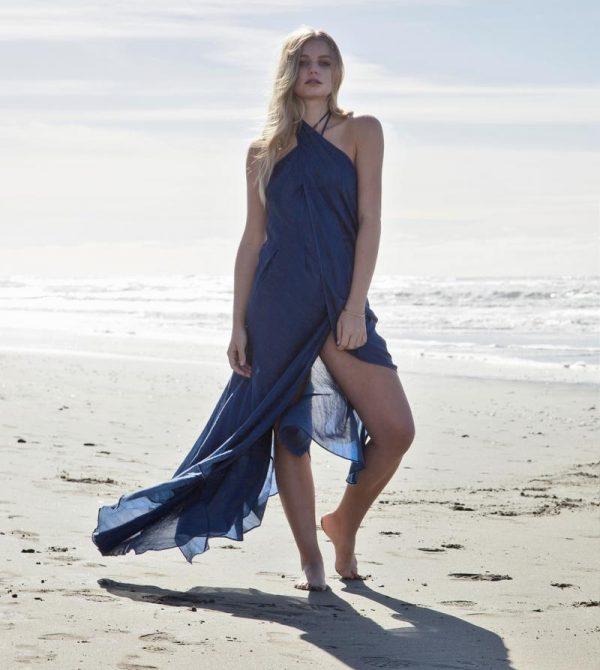 Preeti Wrap Dress – Marine Blue