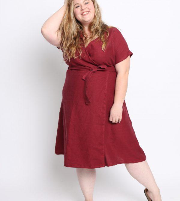 Sale #126 4X Luna Wrap Dress – Ruby — CONSCIOUS CLOTHING