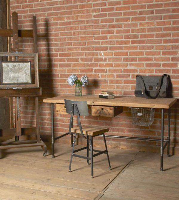 Modern Industry Reclaimed Wood Desk