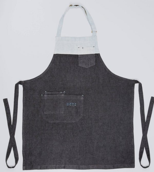 Grey Apron with 3 Pockets